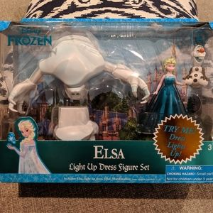 Disney Frozen Elsa Light up dress figure set